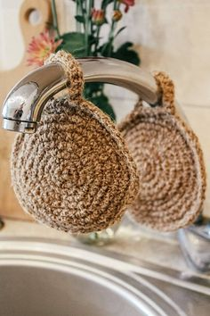 Jute Washclothnatural Peelingchristmas G - Diy Crafts Zero Waste, Limpieza Natural, Knitted Washcloths, Deco Nature, Eco Friendly House, Sustainable Living, Sustainable Practices, Green Life, Creations