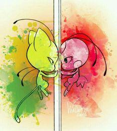 tikki y plagg i am kwaii Ladybug Anime, Meraculous Ladybug, Ladybug Comics, Lady Bug, Miraculous Ladybug Wallpaper, Miraculous Ladybug Fan Art, Tikki Y Plagg, Ladybug Und Cat Noir, Art Drawings