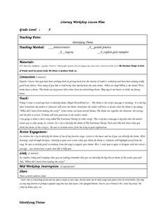 This lesson plan is used to introduce and teach the strategy of identifying theme. This lesson includes a graphic organizer that helps to scaffold ...