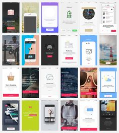 Best Mobile UI UX Kits App Design Templates Images On Pinterest - Mobile app design templates