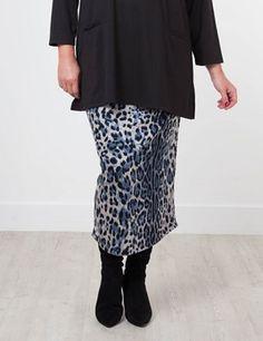 Sadie Blue/Black Skirt