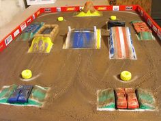 Another great Monster Truck table. Check out the logos on the side walls.