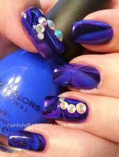 Fixin To Faff: Purple and Blue Water Marble LTNC