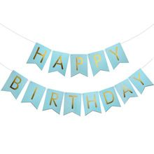 1set Birthday Party Supplies Happy Birthday Letter Bunting Banner Garland Baby Shower Kids Birthday Decor Event Party Supplies(China)
