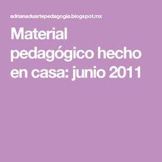 Material pedagógico hecho en casa: junio 2011