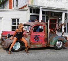 old rat rod trucks Hot Rod Trucks, Big Rig Trucks, Cool Trucks, Tow Truck, Truck Drivers, Dually Trucks, Dodge Trucks, Semi Trucks, Truck Bed