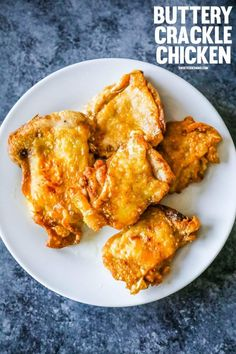 Easy Keto Buttery Crackle Chicken Thighs are the most delicious, juicy, and super crunchy-crackly chicken thighs you'll ever make! These keto fried chicken thighs taste rich and breaded - with almost no carbs and no flour, gluten, or grains!