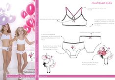 Estudio Intimo: Trabajos Cute Girl Outfits, Kids Outfits, Anime Kitten, Hello Kitty Dress, Underwear Pattern, Elle Fanning, Designer Lingerie, Fashion Sketches, Baby Dress