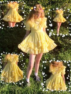 cottagecore fashion - cottagecore cottagecore fashion casual lolita frilly dress sunnycore honeycore Source by fluffyguacamole - Kawaii Fashion, Lolita Fashion, Cute Fashion, Rock Fashion, Fashion Ideas, Vintage Fashion, Pretty Outfits, Pretty Dresses, Cute Outfits