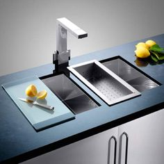 Blanco offer top quality German standard stainless steel, ceramic kitchen sinks and tap. Blanco Sinks gives more comfort with their brilliant sinks designs. Sink Design, Küchen Design, Design Trends, Ceramic Kitchen Sinks, Blanco Sinks, Kitchen Installation, Sink Taps, Appliances, Kitchens