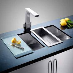 Blanco CLARON 400/400-U Steelart Elements Undermount Kitchen Sink