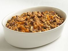 Healthified Sweet Potato Casserole - one reviewer said to use fresh sweet potatoes and omit some of the sugar.