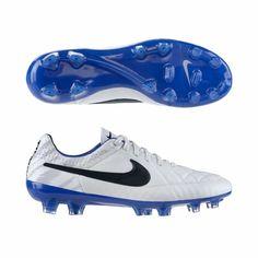 Nike Tiempo Legend V REF FG Soccer Cleats - White/Treasure Blue