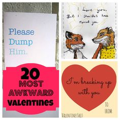 23 of the most awesome yet totally awkward Valentine's Day cards. check out card #11 from www.lesterplusmeco.etsy.com