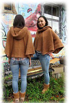 Ravelry: Monk Hood Poncho pattern by CiD Hanscom. $