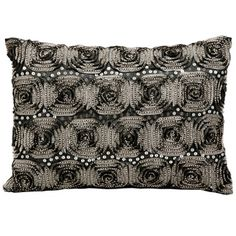 kathy ireland by Nourison Rose Pattern Rectangular Pillow // Accent Pillow