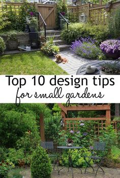 Urban Garden 10 garden design tips to make the most of small spaces. How to make your small… - Try these 10 garden design tips for small gardens to help make your space look bigger! Small gardens will be transformed with these clever design illusions Diy Garden, Garden Cottage, Garden Projects, Diy Projects, Garden Tips, Small Space Gardening, Small Garden Design, Small Garden Planting Ideas, Small Square Garden Ideas