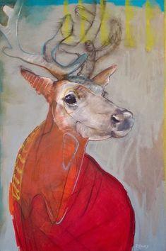 """Awakening, Rebecca Haines, 30x20"""" oil/panel, $2700. #santafeart #rebeccahainesart"""