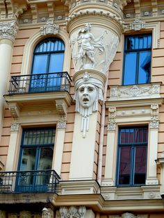 Riga, Latvia, Art Nouveau (Jugendstil) District by lalobamfw, via Flickr