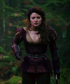 Belle dressed like Gaston