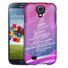 Samsung Galaxy S4 Christmas tree on Pink Trans Case