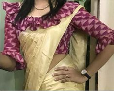 New Saree Blouse Designs, Blouse Designs High Neck, Simple Blouse Designs, Stylish Blouse Design, Bridal Blouse Designs, Sari Design, Designer Blouse Patterns, Blouse Neck Patterns, Designs For Dresses