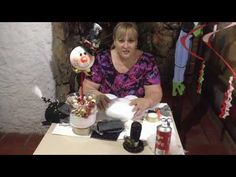 Colombina De Nieve Parte 1 - YouTube Dyi Crafts, Handmade Crafts, Arts And Crafts, Getting Organized, Dollar Stores, Projects To Try, Christmas Decorations, Make It Yourself, Big Shoes