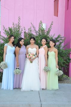 Palm Springs Wedding Photo By M. Tierney Photography bridesmaids