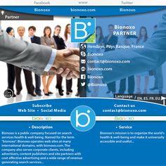 #Vivez   &   #Participez   aux   #Développements   de vos compétences dans un des secteurs chez www.bionoxo.com de santé et bien-être.  Si vous souhaitez faire partie de nos   #partenaires   ou parmi nos   #équipes   expérimentées, n'hésitez pas à nous contacter pour tous renseignements   #Email  : contact@bionoxo.com  #Présentation générale &   #Informations   pratiques:  • Partner: Bionoxo • Sector: Partner • Map: Hendaye, Pays Basque, France • Skype: Bionoxo • Email: contact@bionox