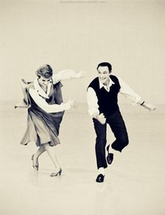 Julie Andrews and Gene Kelly.