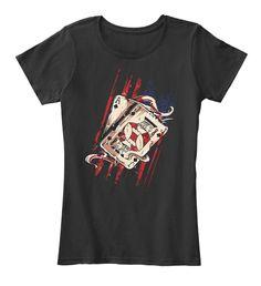 Poker  Card New T Shirt Black T-Shirt Front