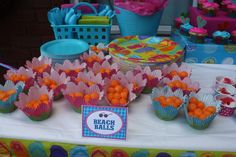 "Photo 1 of 20: Flip Flop Swim Party / Birthday ""Emma's 10th Flip Flop Swim Party"" 