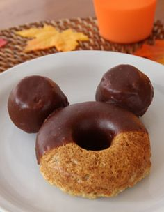Mickey Mouse apple cider donuts