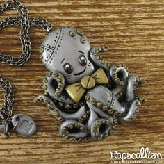 Steampunk Octopus Necklace by rapscalliondesign on Etsy, via Etsy.