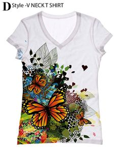 woman  PLUS SIZE Butterfly allover print top t shirt por hellominky, $33.95