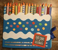Perfect Birthday Gift For Your Boyfriend A Cake Scrapbook Card