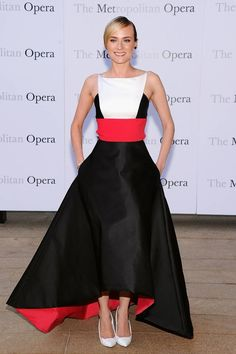Diane Kruger In Prabal Gurung at Metropolitan Opera Season Opening Production Of 'Eugene Onegin'