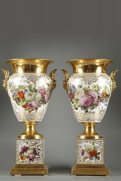 Pair of Porcelain Vases Marked Jacob Petit