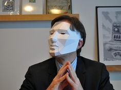 PDF download that help you to build a low poly mask out of paper. http://www.thingiverse.com/thing:32189