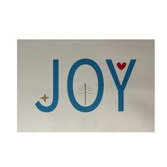 Holiday 'Joy' Decorative Area Rug (4 X 6') (Ivory)