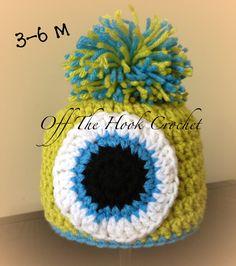 monster hat Monster Hat, Crochet Hooks, Beanie, Hats, Board, Fitness, Crochet, Hat, Beanies
