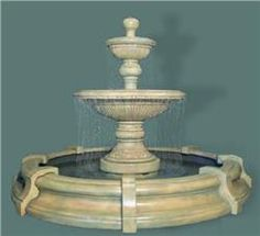 Buy Traviata Two-Tier Fountain in Toscana Pool online with free shipping from thegardengates.com