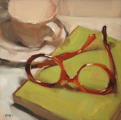 Where Are My Glasses?, painting by artist Carol Marine
