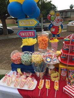Circus Carnival Party, Circus Theme Party, Carnival Birthday Parties, Carnival Themes, First Birthday Parties, Birthday Party Themes, Baby First Birthday, 5th Birthday, Birthday Ideas