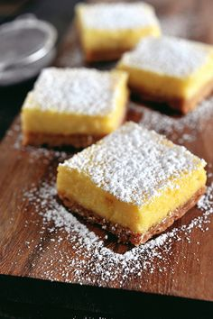 Whole-lemon lemon bars (Can be used to make lime bars as well!)