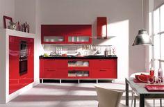 Rojo pasión, rojo amor que da a tu cocina todo lo que necesita.