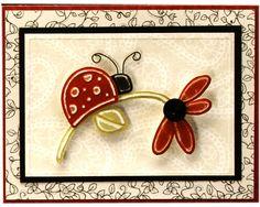 Flower and Ladybug, dry embossed.