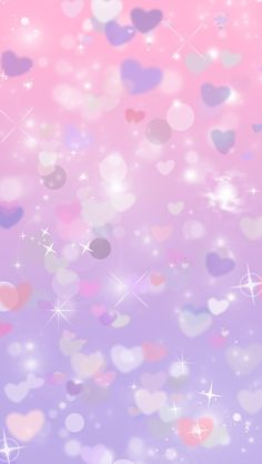 Glitter purple hearts cocoppa iphone wallpaper