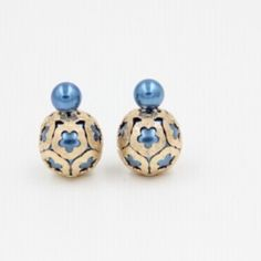 Vintage double ball blue earrings Brand new. Beautiful blue double ball fashion earrings. Simply gorgeous!                                              Bundle to get even bigger savings! Offers welcome. ❌No trades. Bella B Jewelry Earrings