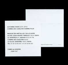 DM Design for Comme des Garçons on Behance